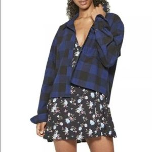 Wild Fable Cropped Flannel Button Down Shirt